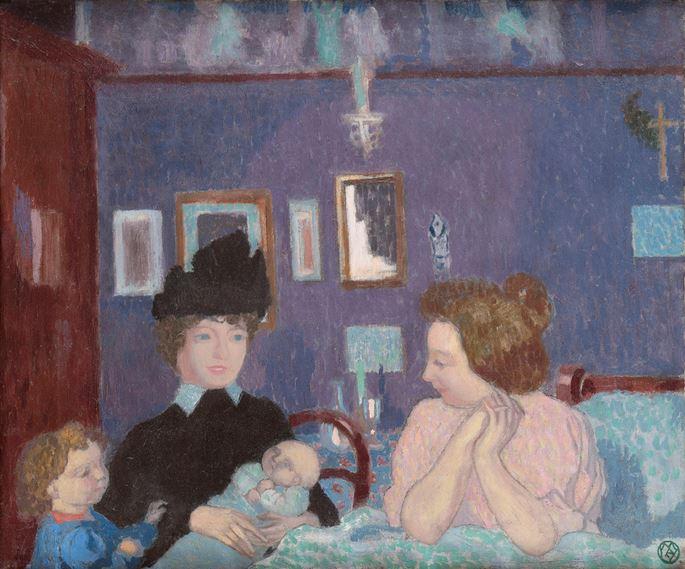 Maurice Denis - Visite dans la chambre violette | MasterArt