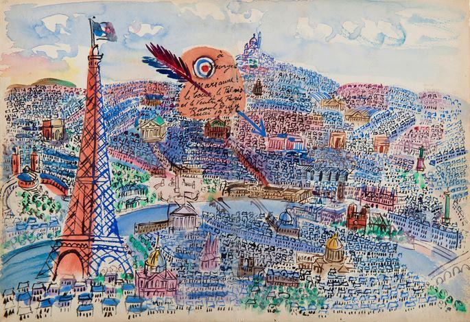 Raoul Dufy - Paris, Livre d'or de Marianne | MasterArt