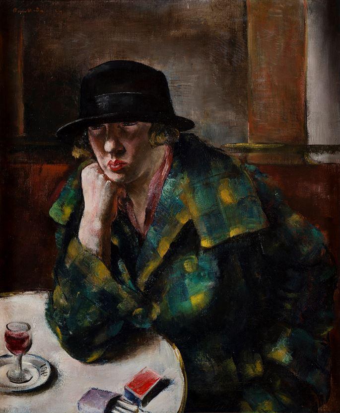 Jean Fautrier - Femme assise dans un café | MasterArt