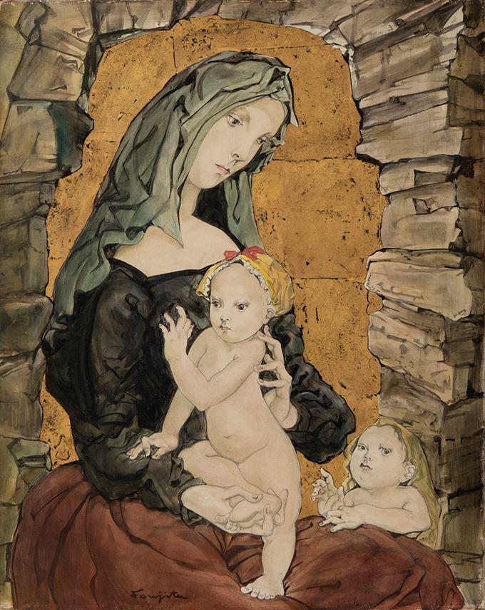 Léonard-Tsuguharu Foujita - Maternité   MasterArt