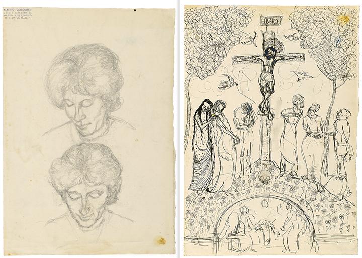 Deux Etudes d'Annetta Giacometti