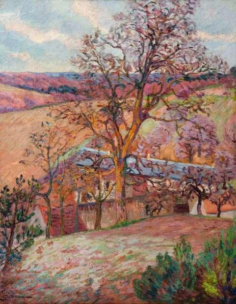 Fermes et arbres à Saint-Chéron