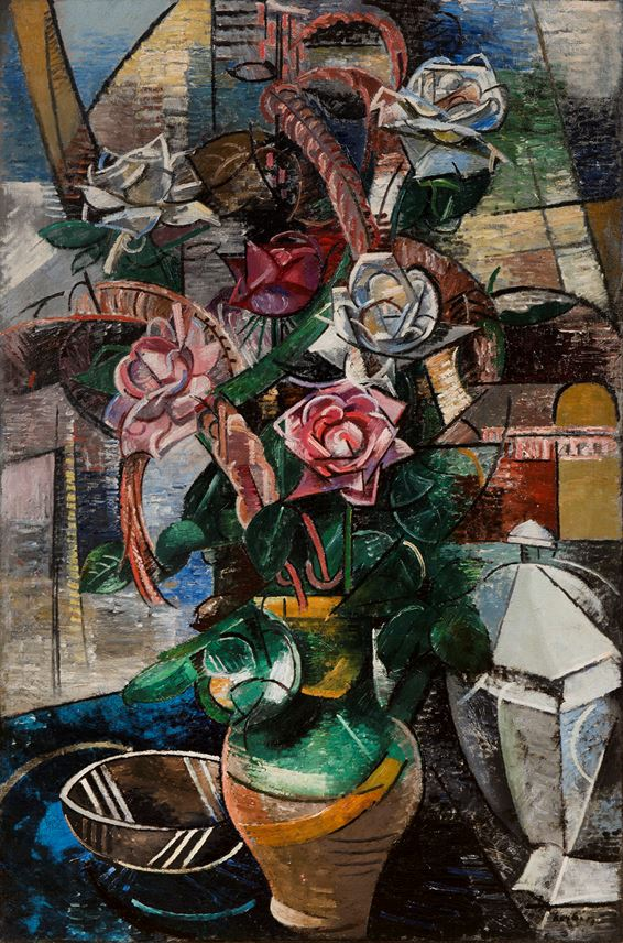 Auguste Herbin - Les Roses | MasterArt