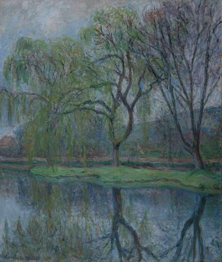 Les grands arbres à l'étang (Giverny)