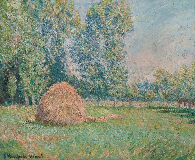 Blanche Hoschedé-Monet - Meule de foin, plaine des Ajoux, Giverny | MasterArt