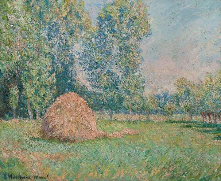 Meule de foin, plaine des Ajoux, Giverny