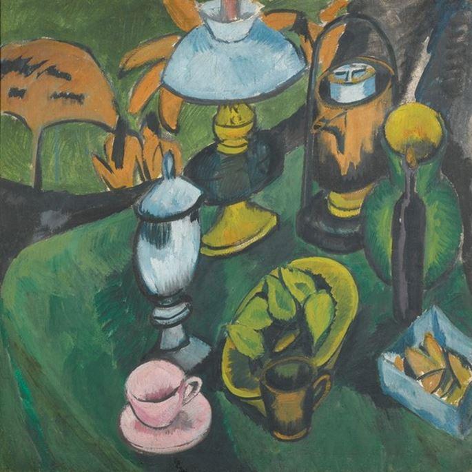 Ernst Ludwig Kirchner - Nature morte à la lampe | MasterArt