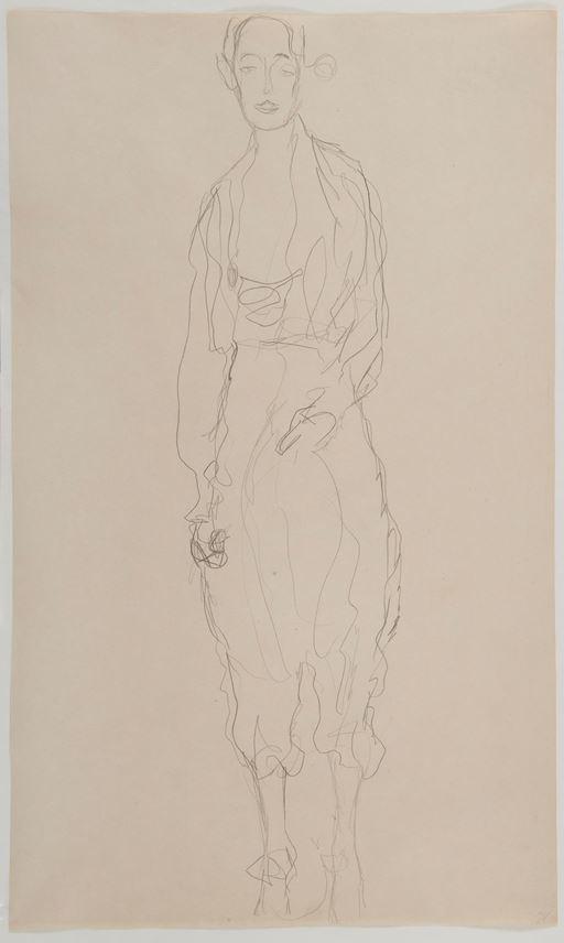 Gustav KLIMT - Portrait d'une femme debout en pantalon | MasterArt