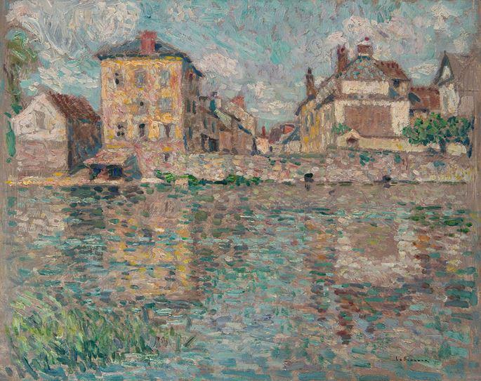 Henri LE SIDANER - Maison au soleil sur la rivière, Nemours | MasterArt