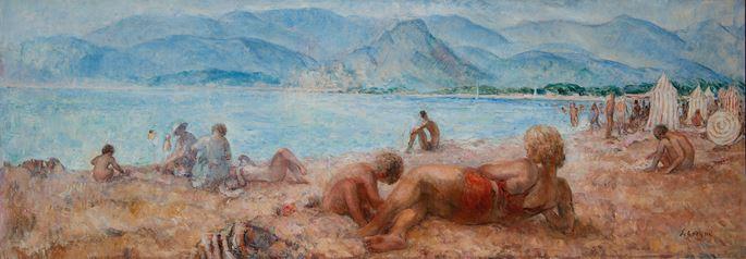 Henri Lebasque - Baigneurs sur la plage de Cagnes-sur-Mer   MasterArt