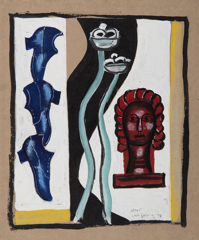 Fernand Léger - Composition à la tête rouge | MasterArt