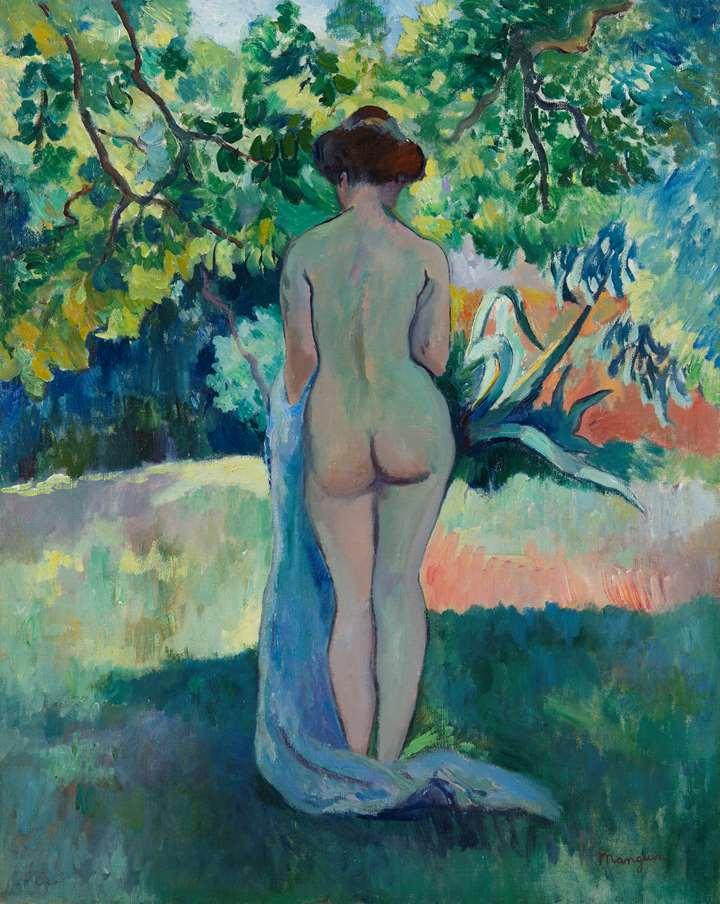 Après le bain, Jeanne à Saint-Tropez