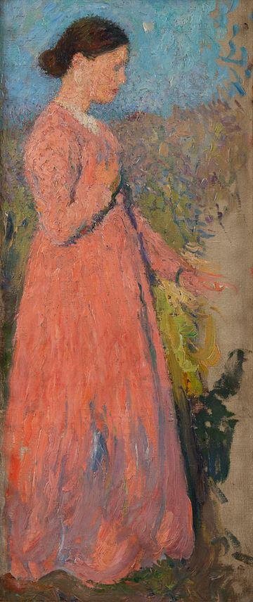 Henri Martin - Femme en rose | MasterArt