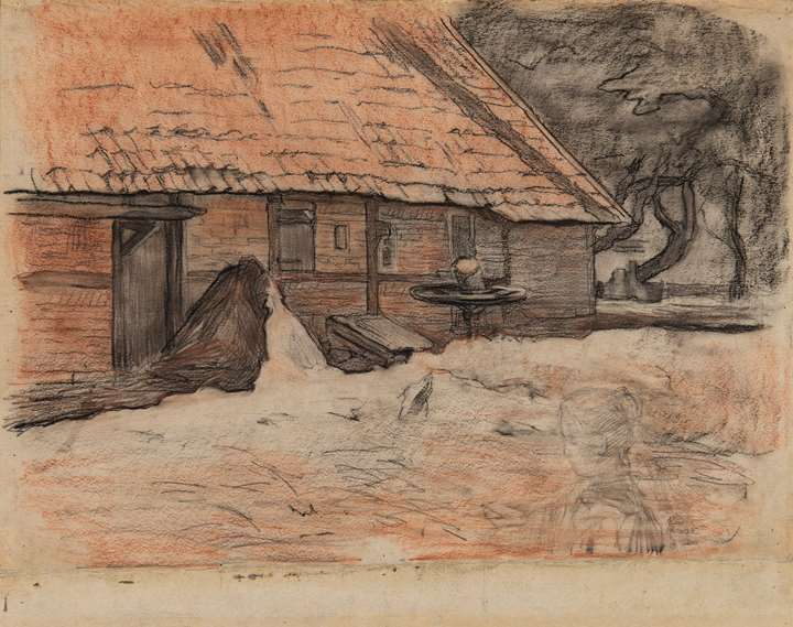 Vue d'une ferme à Winterswijk