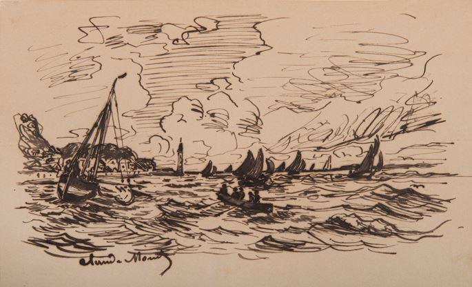 Claude Monet - Le phare de l'hospice à Honfleur | MasterArt