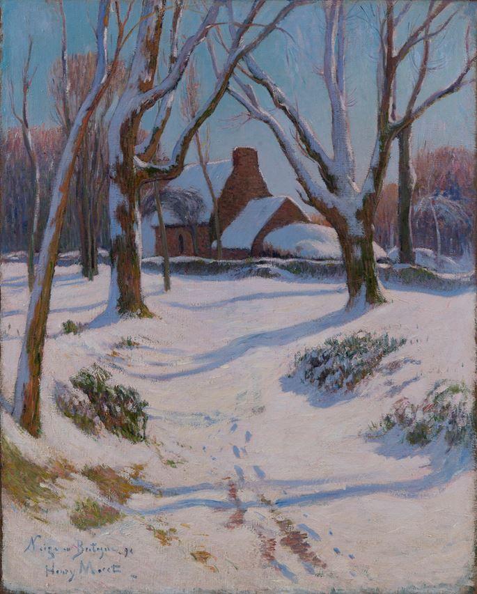 Henry Moret - Neige en Bretagne | MasterArt