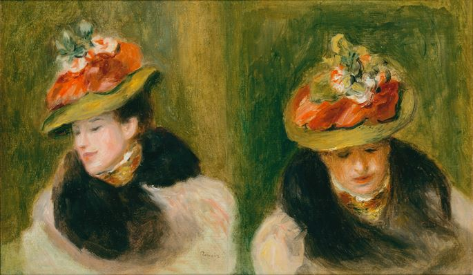 Pierre Auguste Renoir - Double portrait de Jeanne Baudot | MasterArt