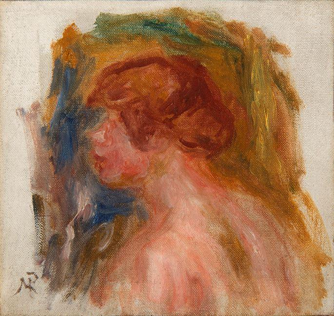 Pierre-Auguste Renoir - Buste de jeune femme | MasterArt