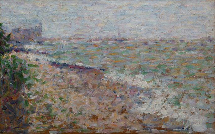Georges Seurat - Le mouillage à Grandcamp | MasterArt