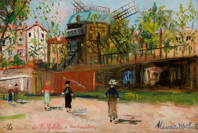 Maurice Utrillo - Le Moulin de la Galette, Montmartre | MasterArt