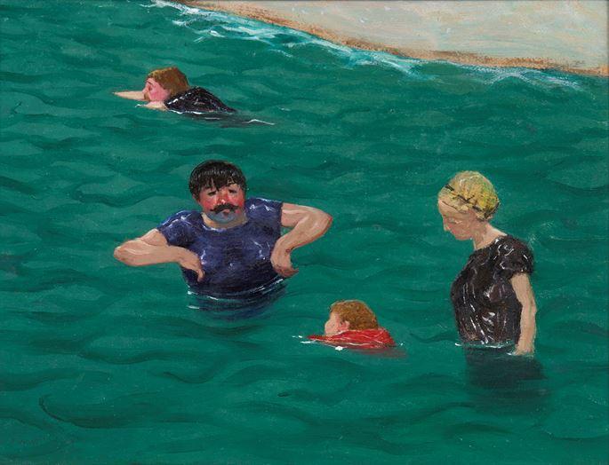 Félix  Vallotton - Quatre baigneurs à Étretat | MasterArt