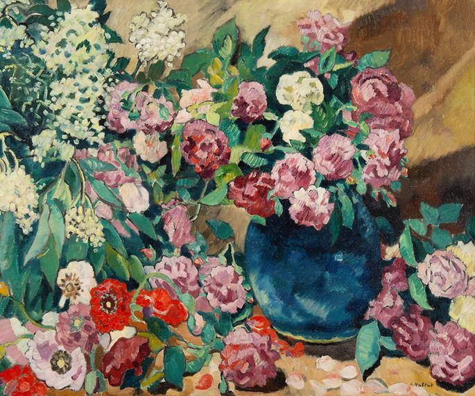 Louis Valtat - Fleurs au vase bleu   MasterArt