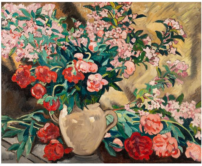 Louis Valtat - Pivoines dans un vase jaune | MasterArt