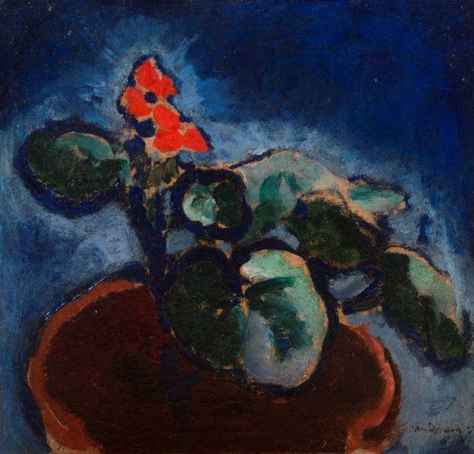 Kees Van Dongen - Composition à la fleur rouge | MasterArt