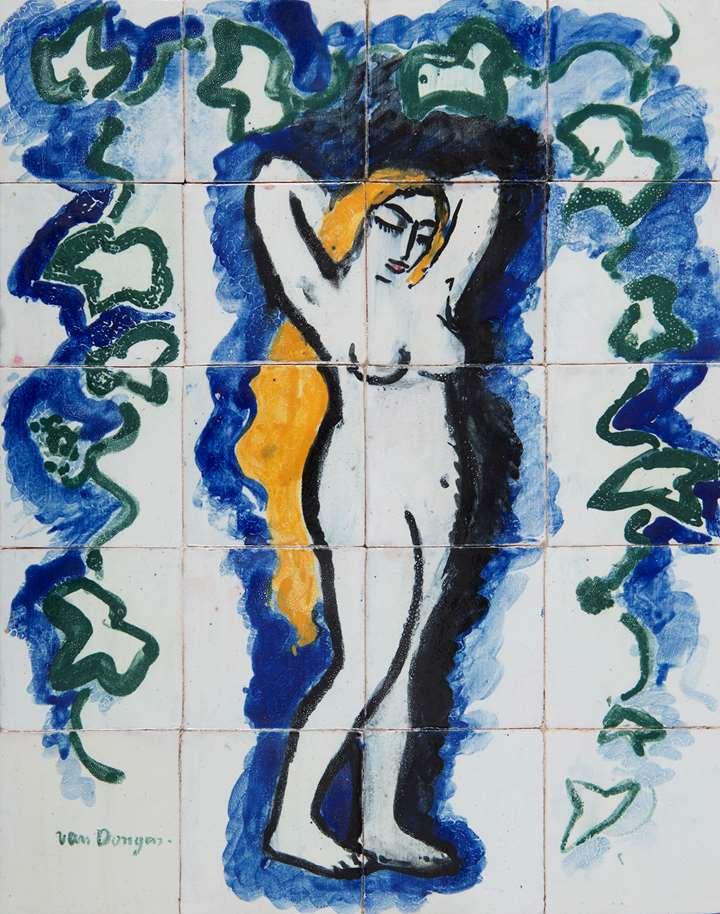 Femme nue au lierre