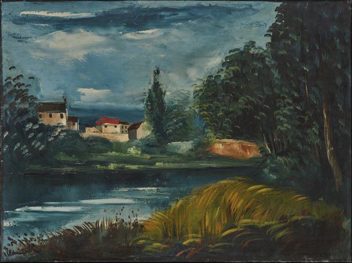 Maurice de Vlaminck - Paysage au bord de l'eau | MasterArt