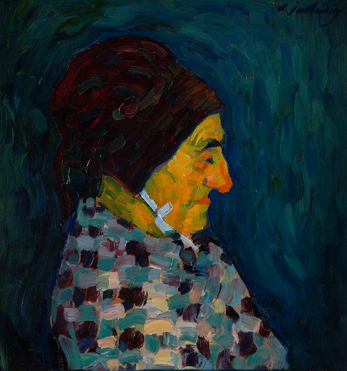 Alexej Von Jawlensky - Portrait de Madame Sid | MasterArt