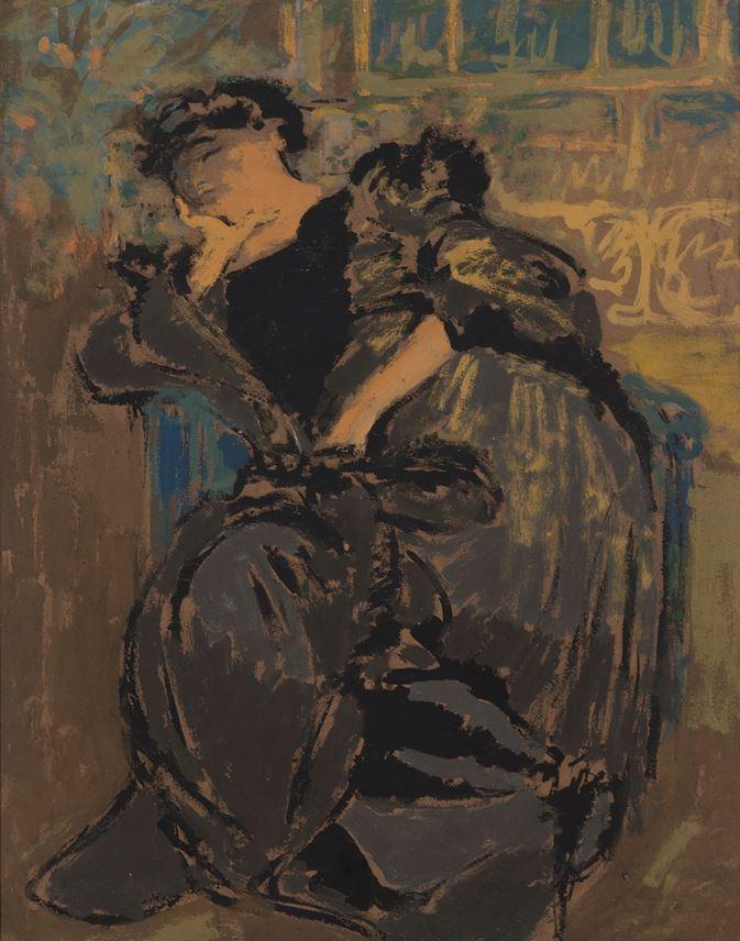 Edouard VUILLARD - Madame Hessel somnolant | MasterArt