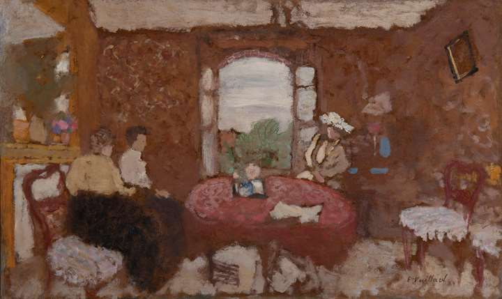 Lucy Hessel en visite chez les Roussel à Cricqueboeuf