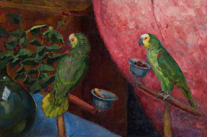 Angel Zarraga - Composition aux perroquets | MasterArt