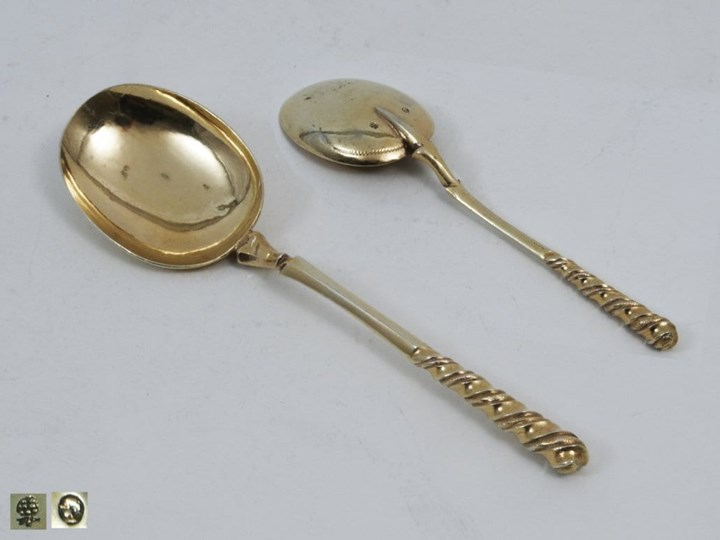 A German Silver Gilt Spoon