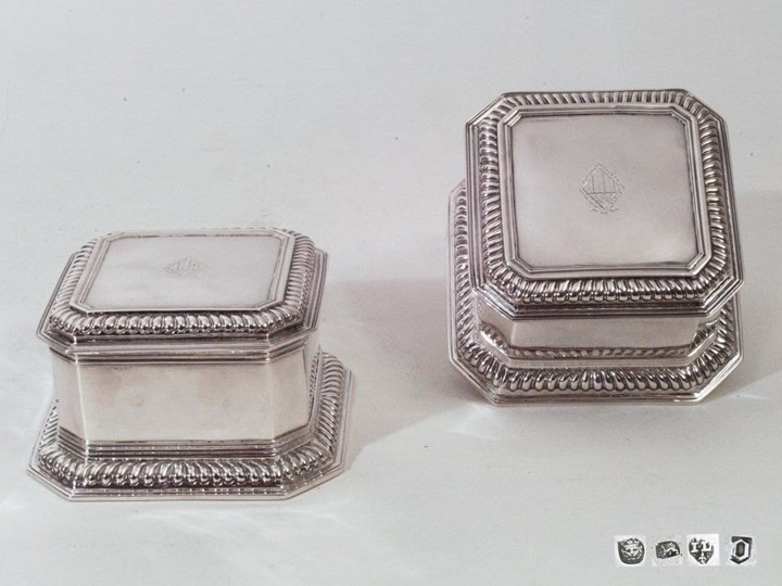 A Queen Anne Pair of Silver Boxes