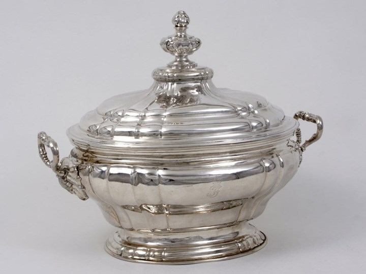 A Very Fine German Silver Soup Tureen and Cover