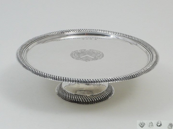 Antique Silver Queen Anne round Tazza