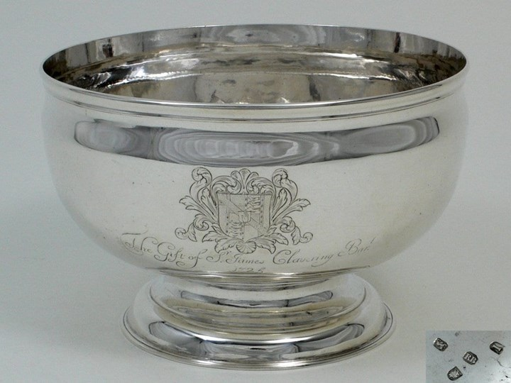 Fine George II Silver Punch Bowl