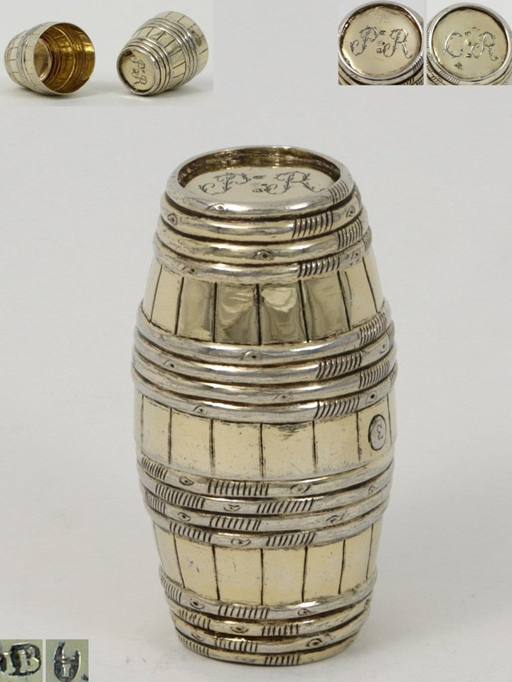 "A Fine German Silver Gilt Double Beaker So Called ""Fassbecher"""