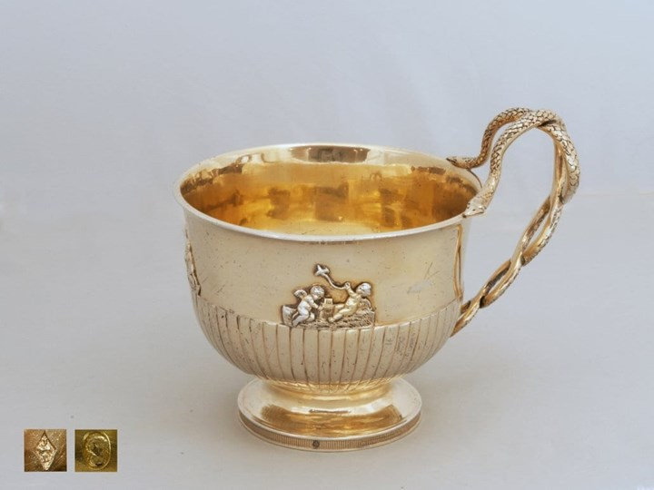 French Empire Cup, Silver-Gilt