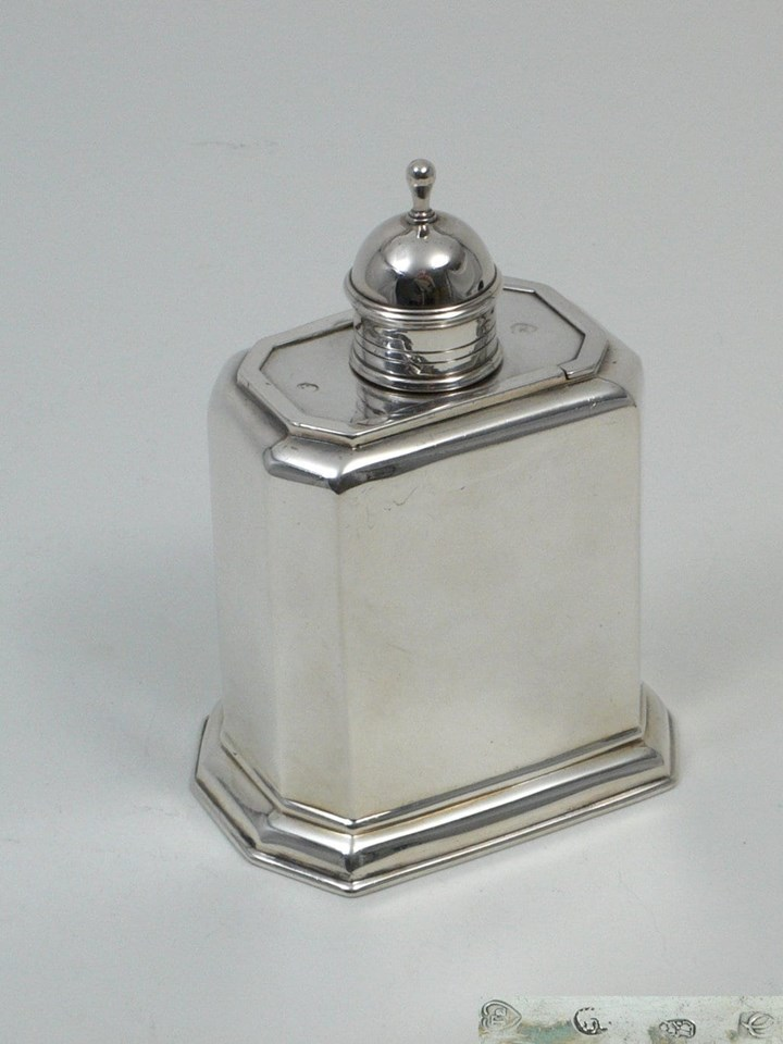 George I Silver Teacaddy
