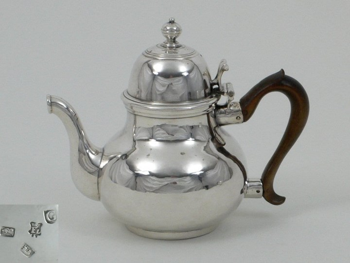 George I Silver Teapot