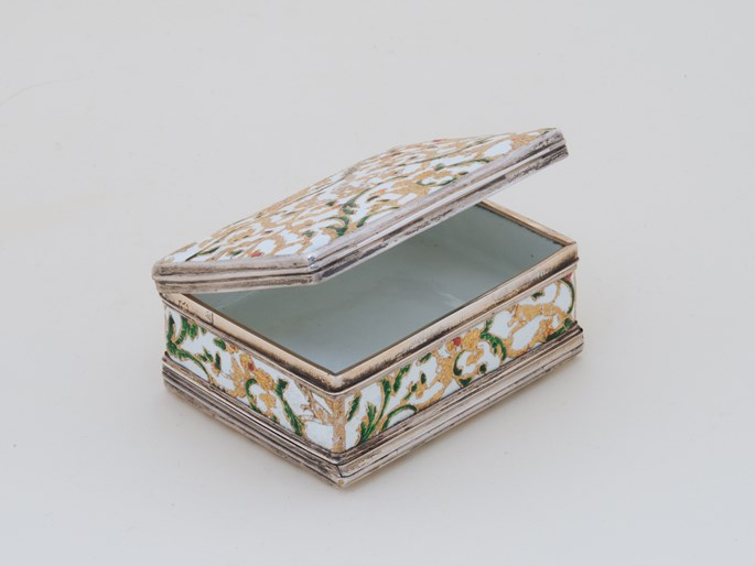German Enamel Double Snuff Box with Silver Mountings and Hunting Motives | MasterArt