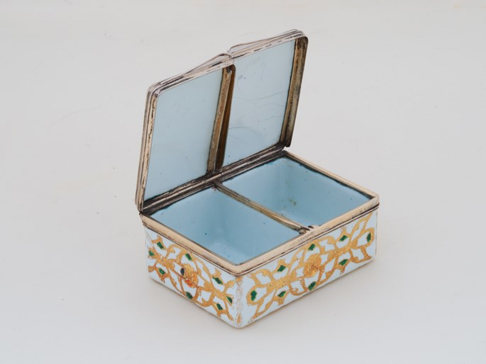 German Enamel Double Snuff Box with Silver-Gilt Mountings | MasterArt