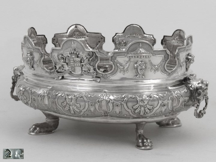 German Silver Monteith Bowl with English Provenance