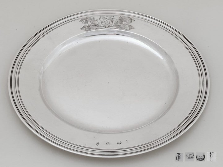 James II Silver Plate