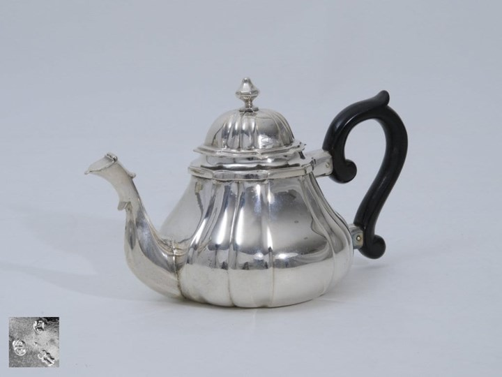 "Little German Silver Teapot ""Egoist"""
