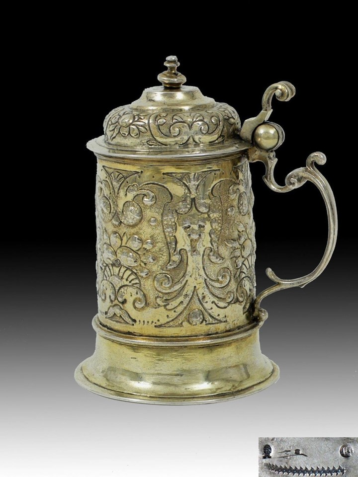 Silver Gilt German Tankard of the Baroque Period