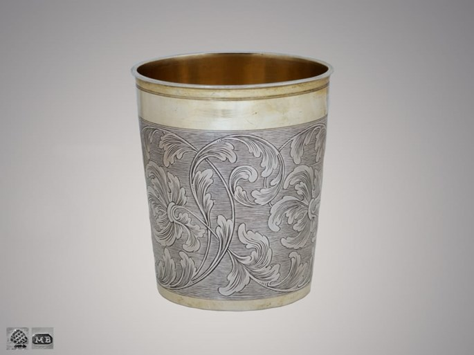 Martin Breuer - Silver Partly-Gilt German Beaker with Elaborate Engraving | MasterArt
